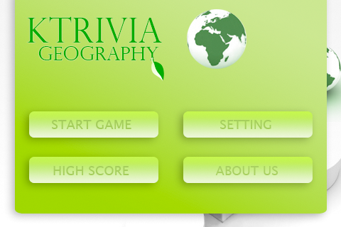 Screenshot kTrivia Geography